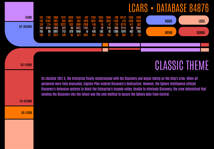 LCARS graphic